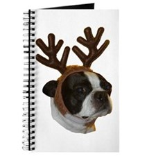 Boston Terrier Reindeer Journal