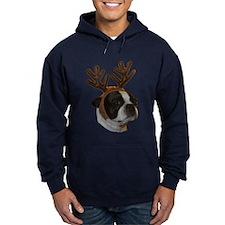 Boston Terrier Reindeer Hoodie