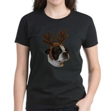Boston Terrier Reindeer Tee