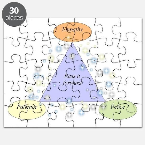 patience empathy peace - lg Puzzle