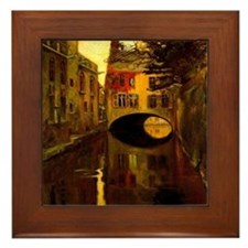Diego Rivera House over Bridge Art Framed Tile