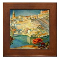 Diego Rivera Vista de Toledo Framed Art Tile