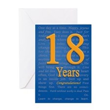 18 Year recovery Birthday Greeting Card