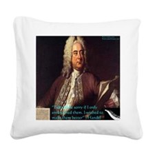 George Handel Square Canvas Pillow