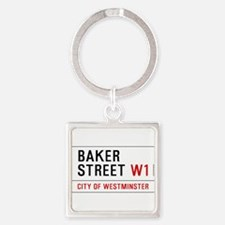Baker Street W1 Square Keychain