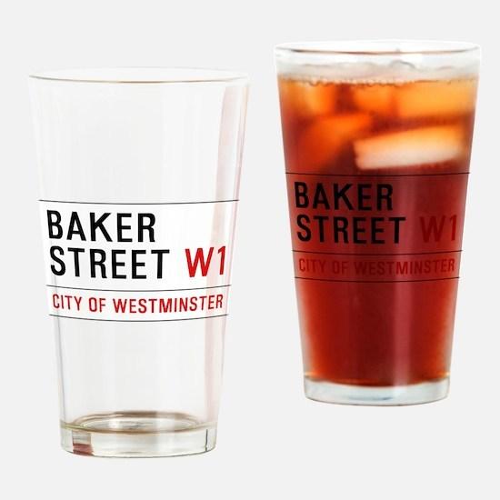 Baker Street W1 Drinking Glass