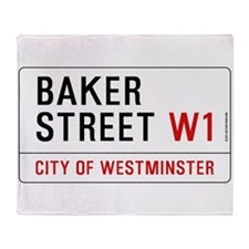 Baker Street W1 Throw Blanket