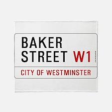 Baker Street W1 Throw Blanket
