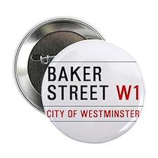 """Baker Street W1 2.25"""" Button (10 pack)"""