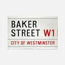 Baker Street W1 Rectangle Magnet