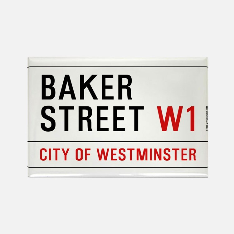 Baker Street W1 Rectangle Magnet