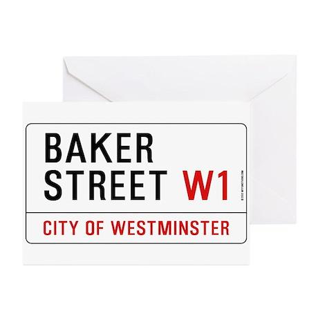 Baker Street W1 Greeting Cards (Pk of 20)