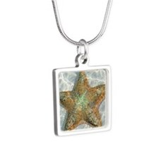 Water World Silver Square Necklace