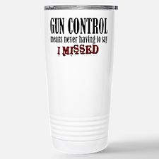 Gun Control Travel Mug