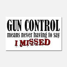 Gun Control Car Magnet 20 x 12