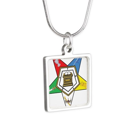 OES Silver Square Necklace