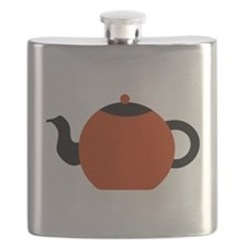 Red and Black Teapot. Flask