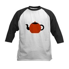 Red and Black Teapot. Tee