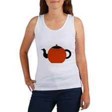Red and Black Teapot. Women's Tank Top