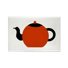 Red and Black Teapot. Rectangle Magnet