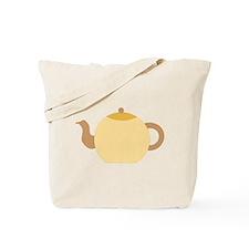 Beige Teapot. Tote Bag