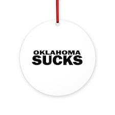 Unique Oklahoma sooners Ornament (Round)