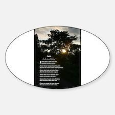 Trees by Joyce Kilmer Sticker (Oval)