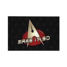 Make It So Star Trek Rectangle Magnet