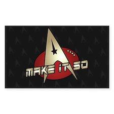 Make It So Star Trek Decal