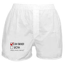 Gun Owner vs Victim Boxer Shorts