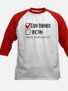 Gun Owner vs Victim Kids Baseball Jersey