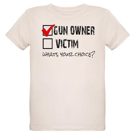 Gun Owner vs Victim Organic Kids T-Shirt