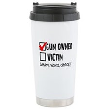 Gun Owner vs Victim Travel Mug