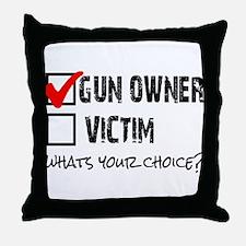 Gun Owner vs Victim Throw Pillow