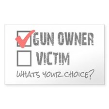 Gun Owner vs Victim Decal