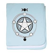 Elemental Pentagram baby blanket