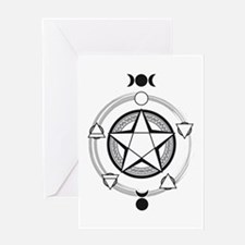 Elemental Pentagram Greeting Card