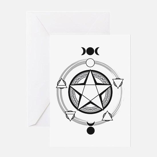Elemental Pentagram Greeting Card