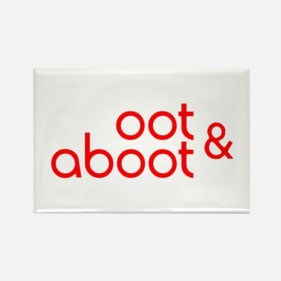 Oot & Aboot (red) Rectangle Magnet