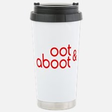Oot & Aboot (red) Stainless Steel Travel Mug