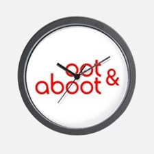 Oot & Aboot (red) Wall Clock
