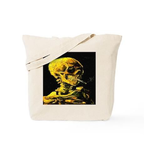 Smoking Skull van Gogh 1853-1 Tote Bag