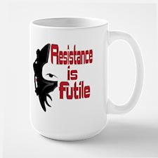 Picard Borg Resistance is Futile Large Mug