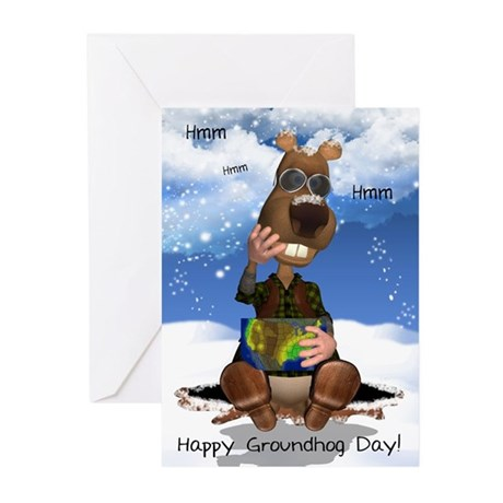 Groundhog Day Greeting Cards (Pk of 20)