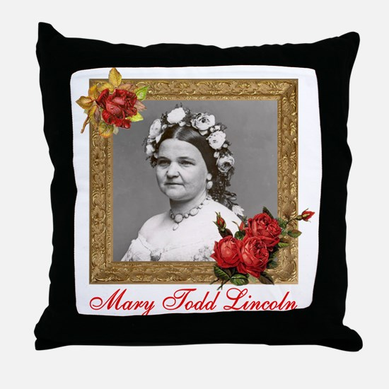 Mary Todd Lincoln Throw Pillow