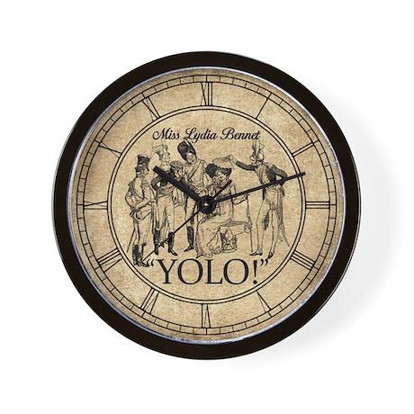 Lydia Bennet YOLO Wall Clock