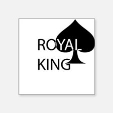 "ROYAL KING Square Sticker 3"" x 3"""