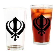 khanda black Drinking Glass