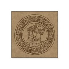 "Mayan Calendar Square Sticker 3"" x 3"""