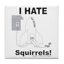 Squirrel Rocket Tile Coaster